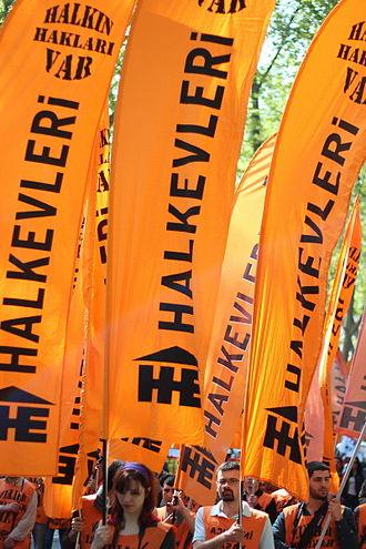 Halkevleri - Halkevleri flags May Day 2012