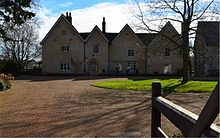 A front view of Hall Place manor in 2012. There is a 14th-century stone chapel directly to the right of Hall Place