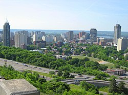 Skyline of downtown Hamilton