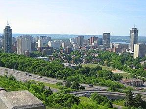 Stadtzentrum von Hamilton