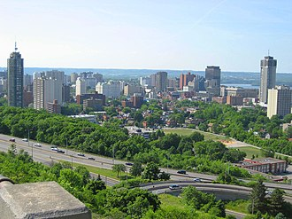 Niagara Escarpment - Hamilton Skyline, view from atop the Niagara Escarpment