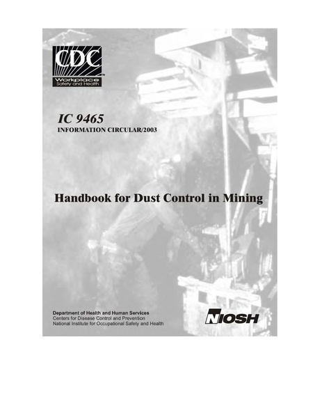 File:Handbook <b>for Dust Control in</b> Mining (Fred Kissell) NIOSH 2003 ...