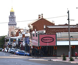 Hannan Street, Kalgoorlie - in 2000s - looking south down street