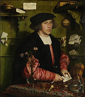 Steelyard - Georg Giese from Danzig, 34-year-old German merchant at the Steelyard, painted in London by Hans Holbein in 1532