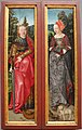Hans baldung, altare dei re magi, 1506-07 ca. 05 ss. caterina e agnese.JPG