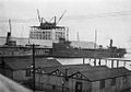 Harbour Commissioners Building under construction and docks.jpg