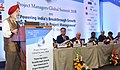 """Hardeep Singh Puri delivering the inaugural address at the Project Managers Global Summit, 2018 on """"Powering India's Breakthrough Growth - New Dimensions in Project Management"""", in New Delhi (1).JPG"""