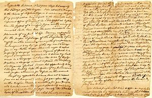 Jacob Rutsen Hardenbergh - The handwritten draft of Hardenbergh's 1774 Queen's College commencement address
