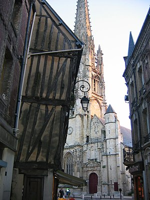 Harfleur - The church and some timber framed houses