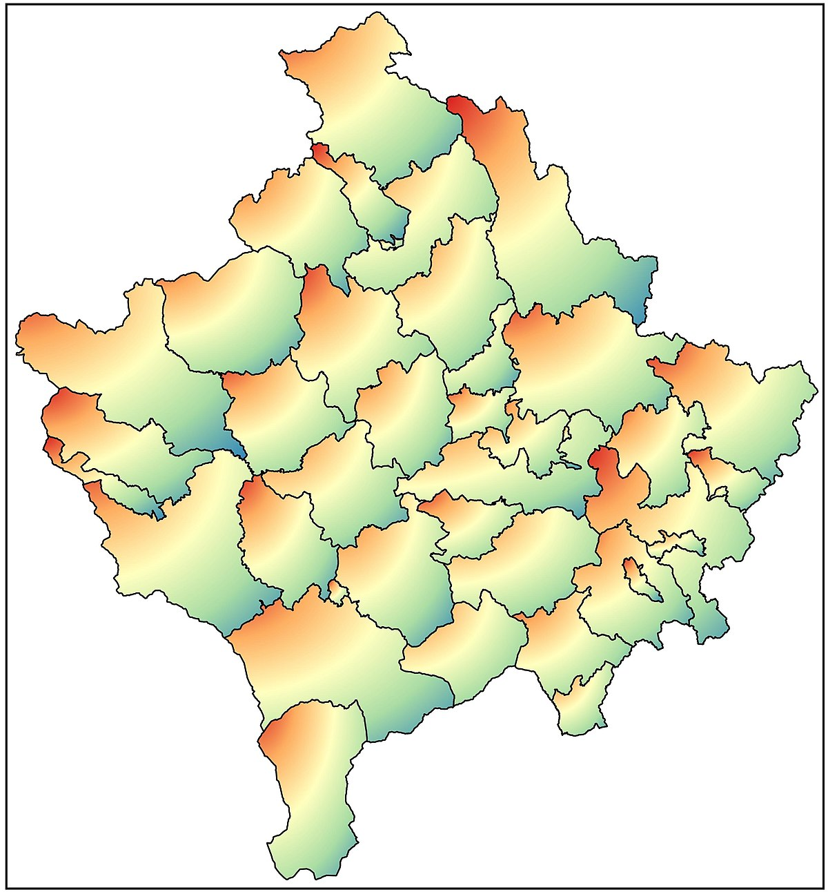 File Harta E Kosoves Jpg Wikimedia Commons