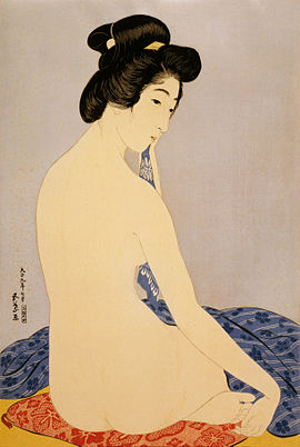 Hashiguchi Goyō, Woman after bath, 1920.jpg