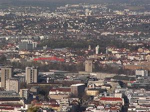 Vue op Stuttgart