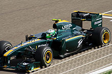 Photo de la Lotus T127 de Kovalainen à Sakir