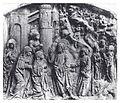 """Heilbronn, Klarakloster, Sandsteinrelief, """"Abschied Christi von seiner Mutter"""" (Hans Seyfer), 16. Jhdt.jpg"""