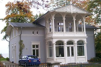 Resort architecture - Villa Achterkerke in Heringsdorf, built 1845