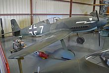 Heinkel He-100D-1 (full size mock-up) 'white 7' (26251744894).jpg