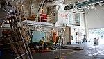 Helicopter hangar of JS Fuyuzuki(DD-118) inside view at JMSDF Maizuru Naval Base July 27, 2014 03.jpg