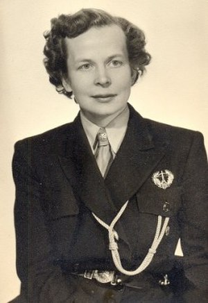Helvi Sipilä - Mrs. Sipilä in the 1950s when she acted as a chief of the Finnish girl scouts organization.