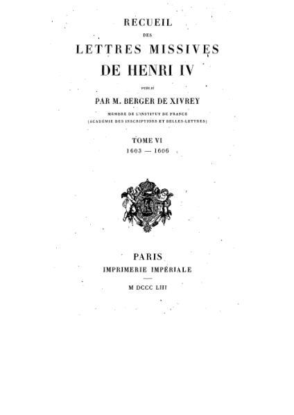File:Henri IV - Lettres Missives - Tome6.djvu