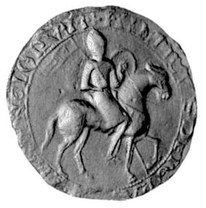 Haughmond Abbey - Seal of Henry I, showing the king on horseback. Alan FitzFlaad, founder of the FitzAlan family, seems to have made his fortune as part of Henry's military retinue.