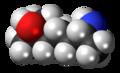 Heptaminol molecule spacefill.png