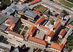 Aerial photograph of the Herend Porcelain factory