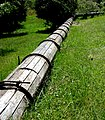 Heritage wood stave iron hoop water pipe. MORE INFO IN PANORAMIO-DESCRIPTION - panoramio.jpg