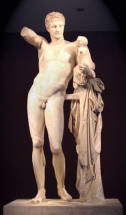 Image result for hermes and the infant dionysus