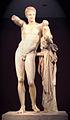 Hermes di Prassitele, at Olimpia, front 2.jpg
