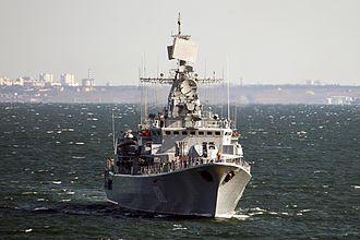 Petro Konashevych-Sahaidachny - Krivak class frigate Hetman Sahaydachniy is the current flagship of the Ukrainian navy.