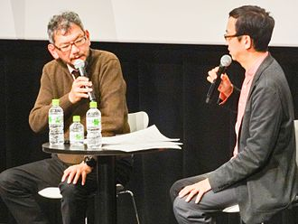 Hideaki Anno - Anno with Ryūsuke Hikawa. (October 30, 2014)