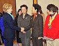 Hillary Rodham Clinton Yoshiko Mitsui and Kayoko Hosokawa 20090216.jpg