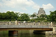 Himeji castle and bridge