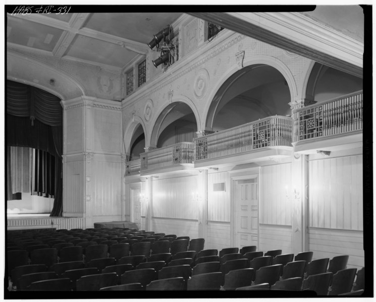 File:Historic American Buildings Survey, Cervin Robinson, Photographer July 15, 1970 THEATER INTERIOR FROM NORTHWEST. - Newport Casino, 186-202 Bellevue Avenue, Newport, Newport County, HABS RI,3-NEWP,39-5.tif
