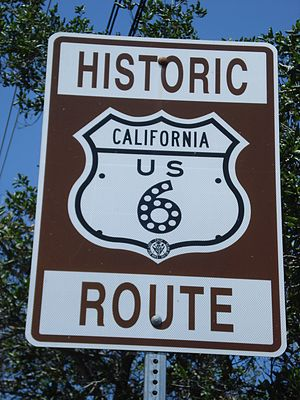 U.S. Route 6 in California - Historic Route 6 sign near the southern terminus of Sierra Hwy.