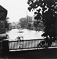 Hochwasser in Lauingen entlang der Kornstraße um 1956.jpg