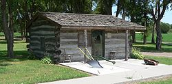 Log cabin in Holbrook Park