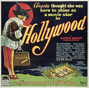 Hollywood (1923 film) - Six-sheet poster for Hollywood