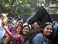 Horse made by Naval Dockyard (Mumbai) on display at Kala Ghoda Festival.jpg
