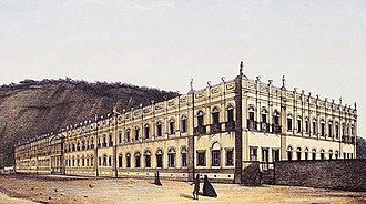 Federal University of Rio de Janeiro - University Palace in the 19th century, when it functioned as a hospice. The building was given to University of Brazil only in 1949.