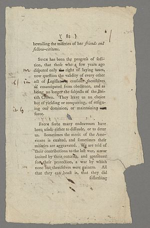 Political views of Samuel Johnson - Annotated proofs of Johnson's Taxation No Tyranny (1775)