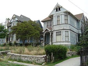 Angelino Heights, Los Angeles - Victorian style houses