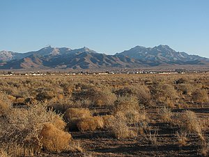 Hualapai Mountains - The Hualapai Mountains seen from Kingman in late December with a light dusting of snow.