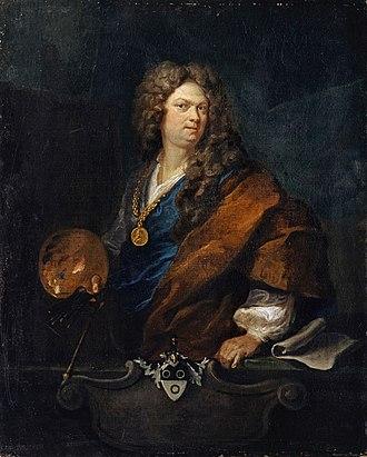 Johann Rudolf Huber - Self-portrait, 1710.