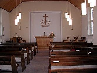 New Apostolic Church - New Apostolic church hall with emblem