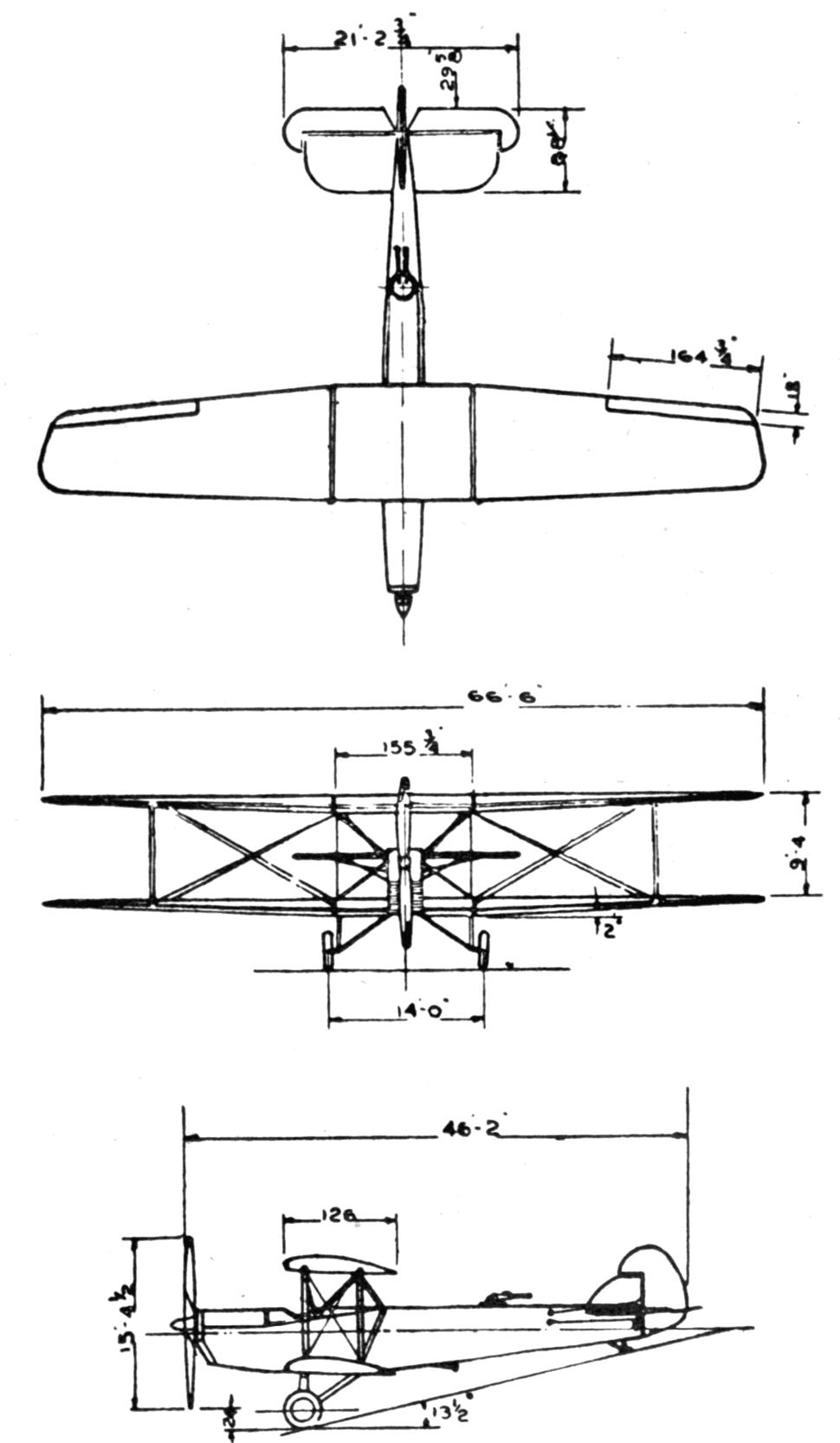 Huff Daland XLB-1 3-view L'Air September 15,1926