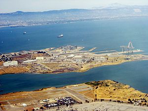 San Francisco Naval Shipyard - Image: Hunters Point California aerial 2006
