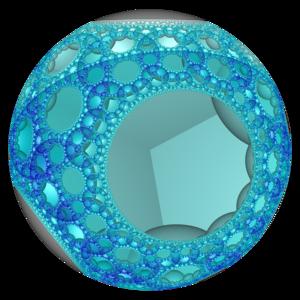 Order-3-4 heptagonal honeycomb - Image: Hyperbolic honeycomb 7 3 4 poincare vc