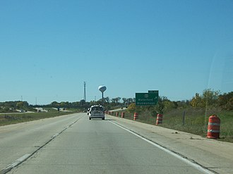 Mukwonago, Wisconsin - Interstate 43 at Mukwonago