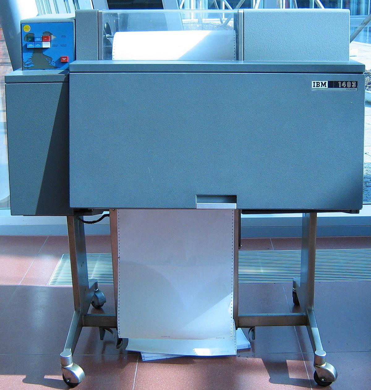 line printer wikipedia